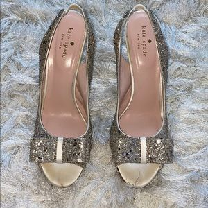 Kate Spade glitter charm Bow heels. Wore one day.